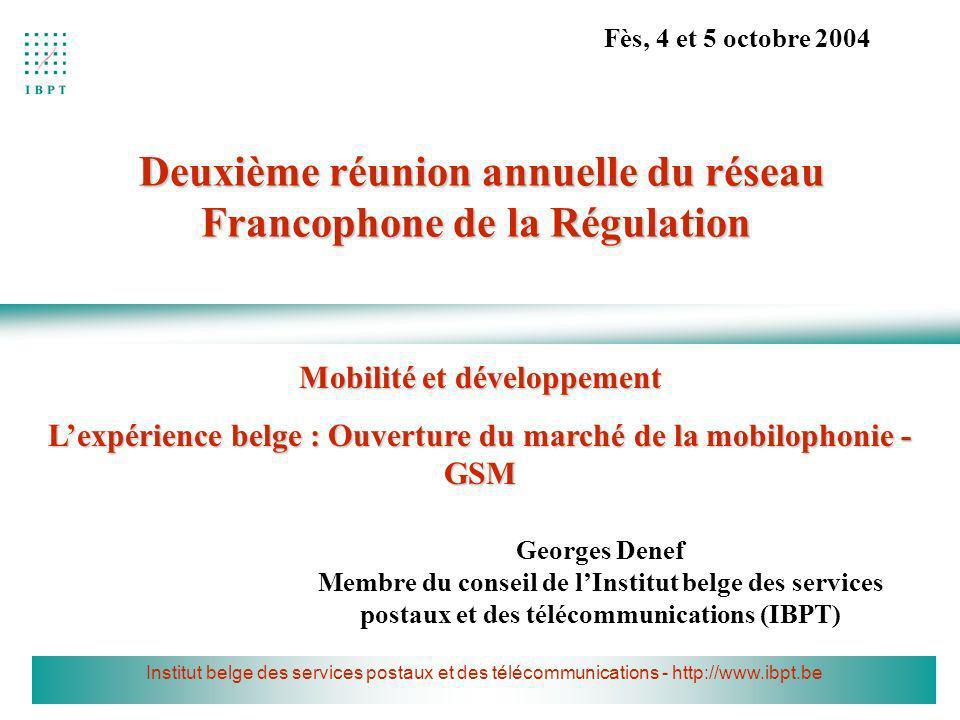 Deuxième réunion annuelle du réseau Francophone de la Régulation