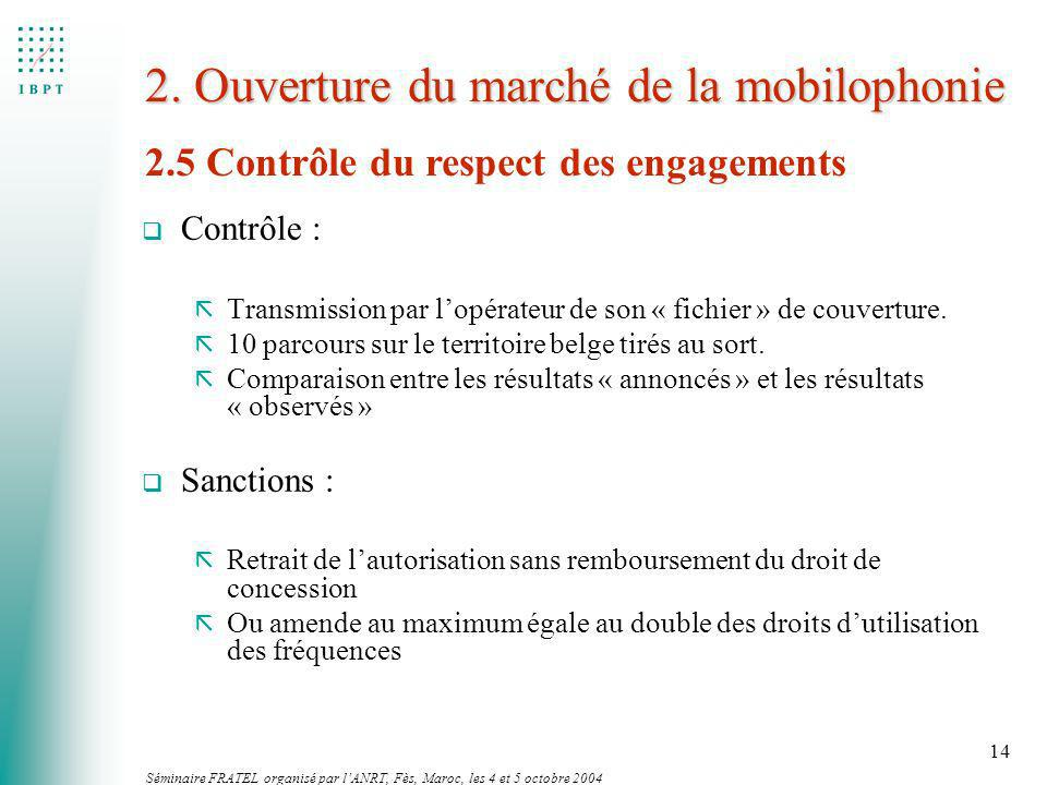 2. Ouverture du marché de la mobilophonie