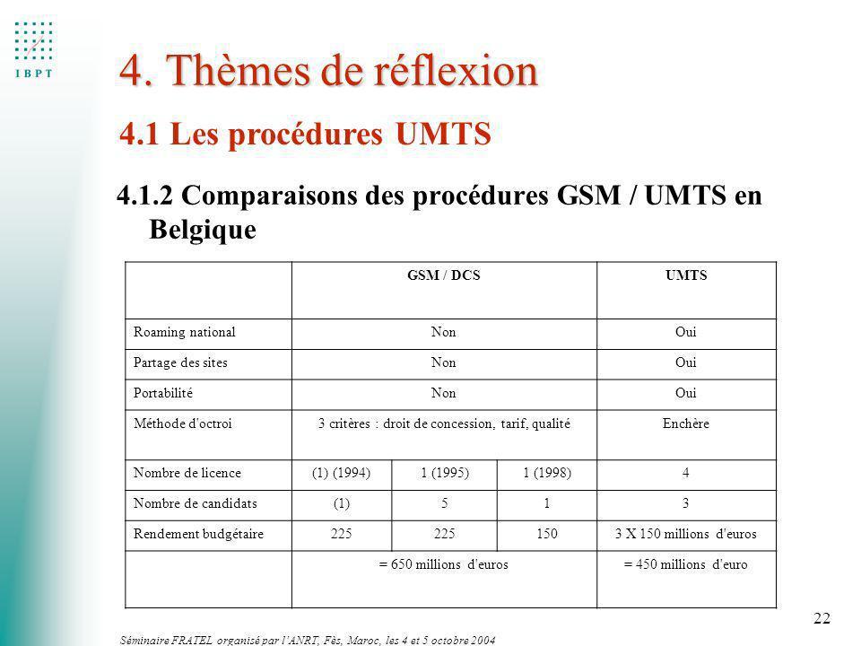 3 critères : droit de concession, tarif, qualité