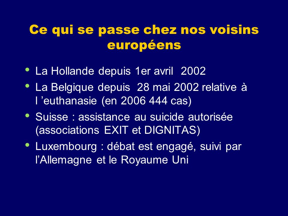 Ce qui se passe chez nos voisins européens