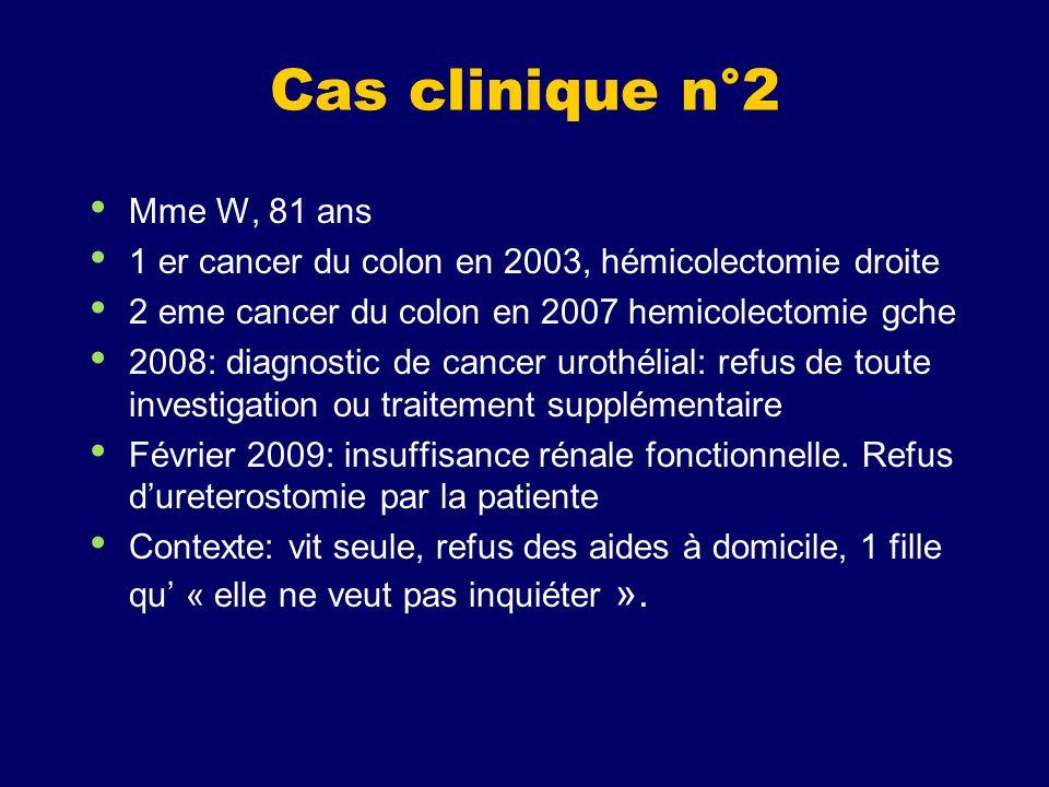 Cas clinique n°2 Mme W, 81 ans