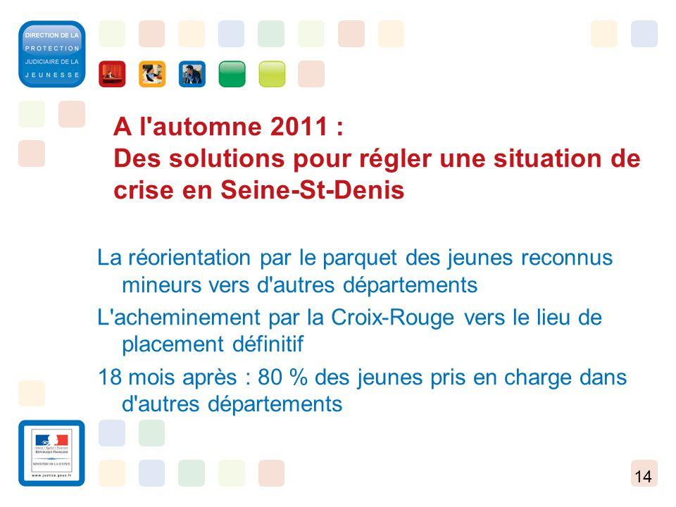 A l automne 2011 : Des solutions pour régler une situation de crise en Seine-St-Denis