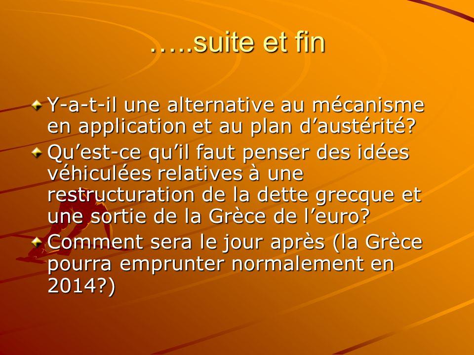 …..suite et fin Y-a-t-il une alternative au mécanisme en application et au plan d'austérité