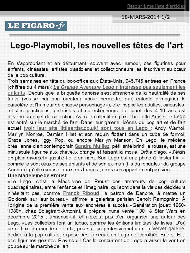 Lego-Playmobil, les nouvelles têtes de l art