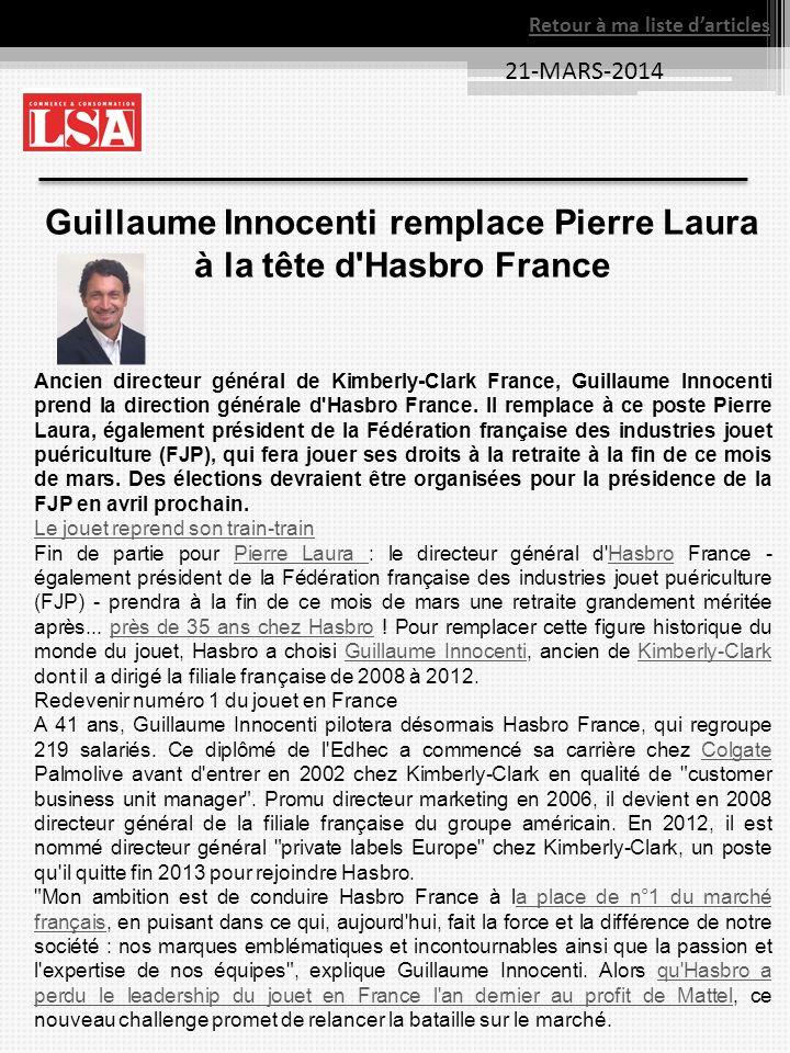 Guillaume Innocenti remplace Pierre Laura à la tête d Hasbro France