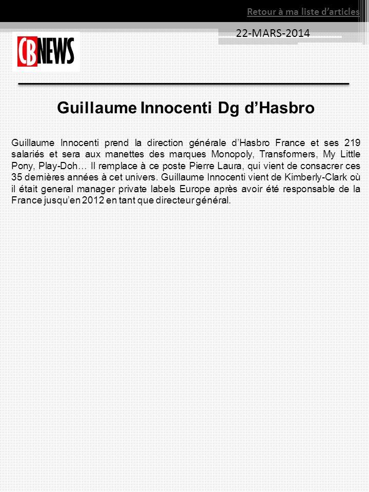 Guillaume Innocenti Dg d'Hasbro