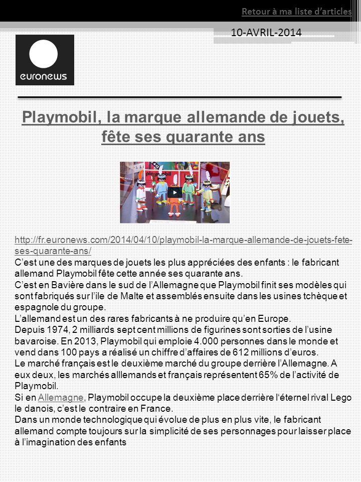 Playmobil, la marque allemande de jouets, fête ses quarante ans