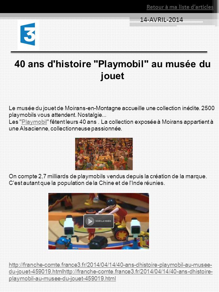 40 ans d histoire Playmobil au musée du jouet