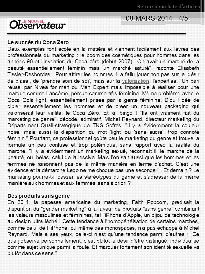 08-MARS-2014 4/5 Retour à ma liste d'articles Le succès du Coca Zéro
