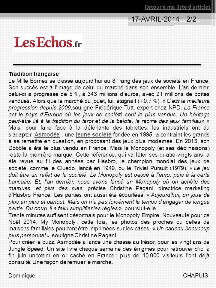 17-AVRIL-2014 2/2 Retour à ma liste d'articles Tradition française