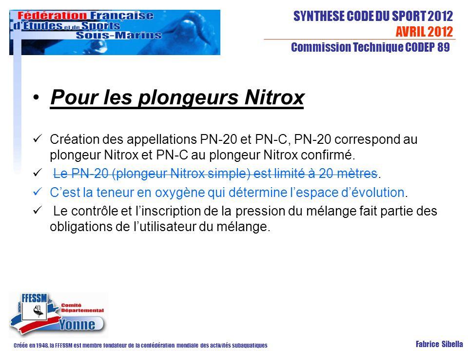 Pour les plongeurs Nitrox