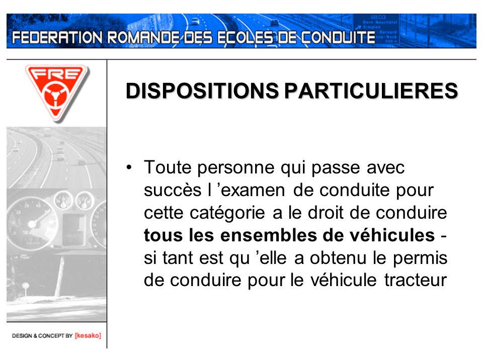 DISPOSITIONS PARTICULIERES