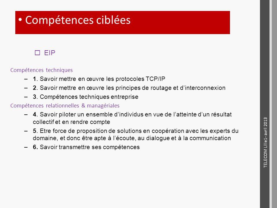 Compétences ciblées EIP Compétences techniques