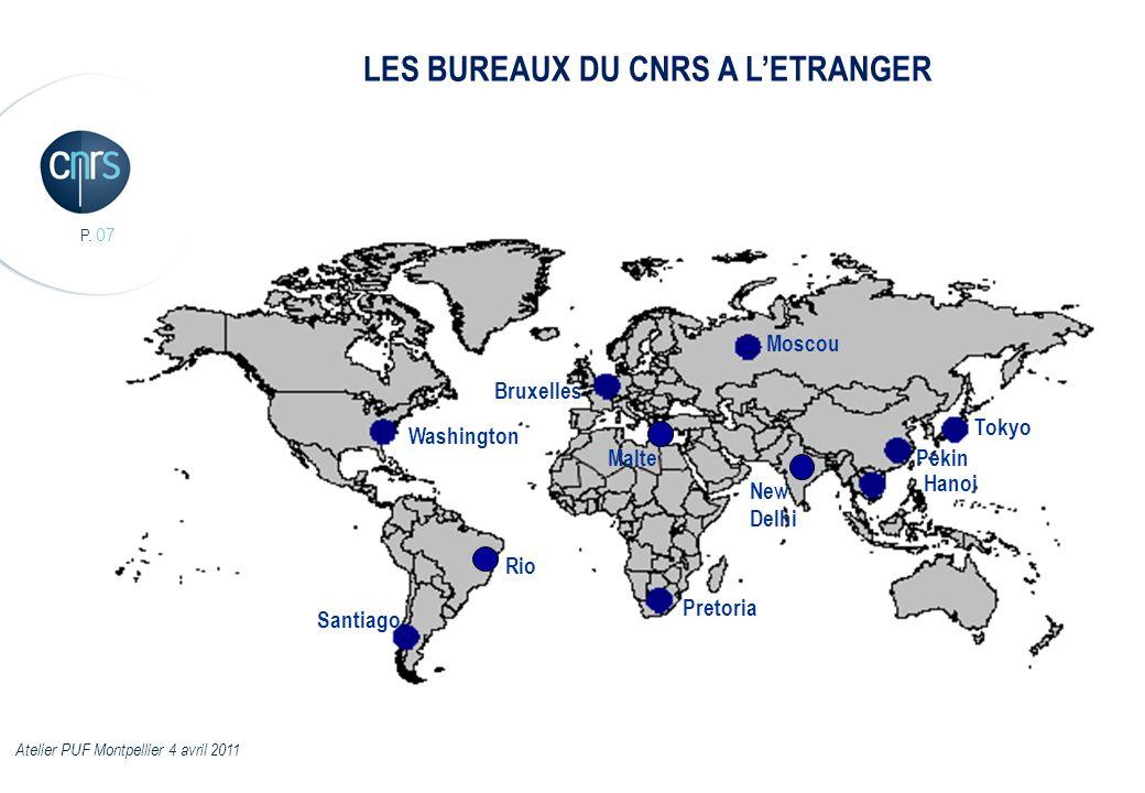 LES BUREAUX DU CNRS A L'ETRANGER