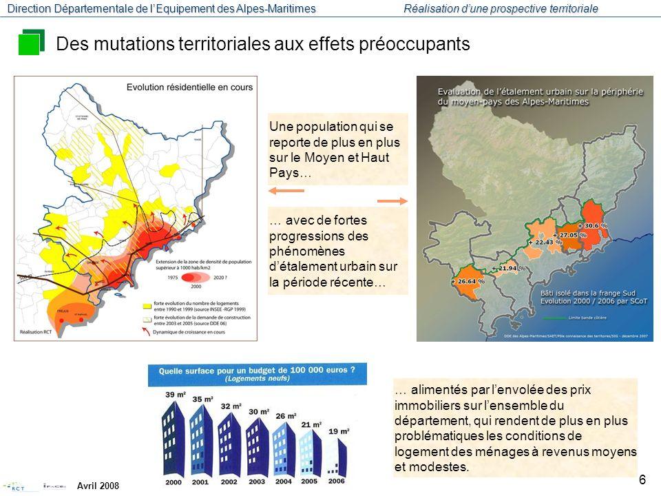 Des mutations territoriales aux effets préoccupants