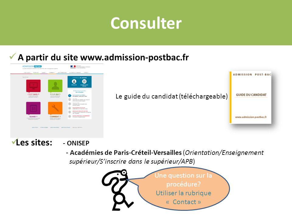 Consulter A partir du site www.admission-postbac.fr