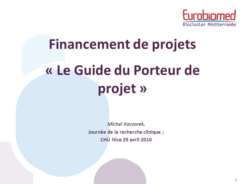 Financement de projets « Le Guide du Porteur de projet »