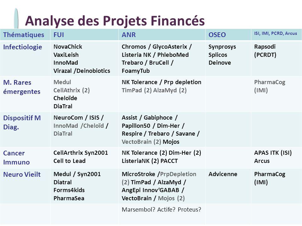 Analyse des Projets Financés