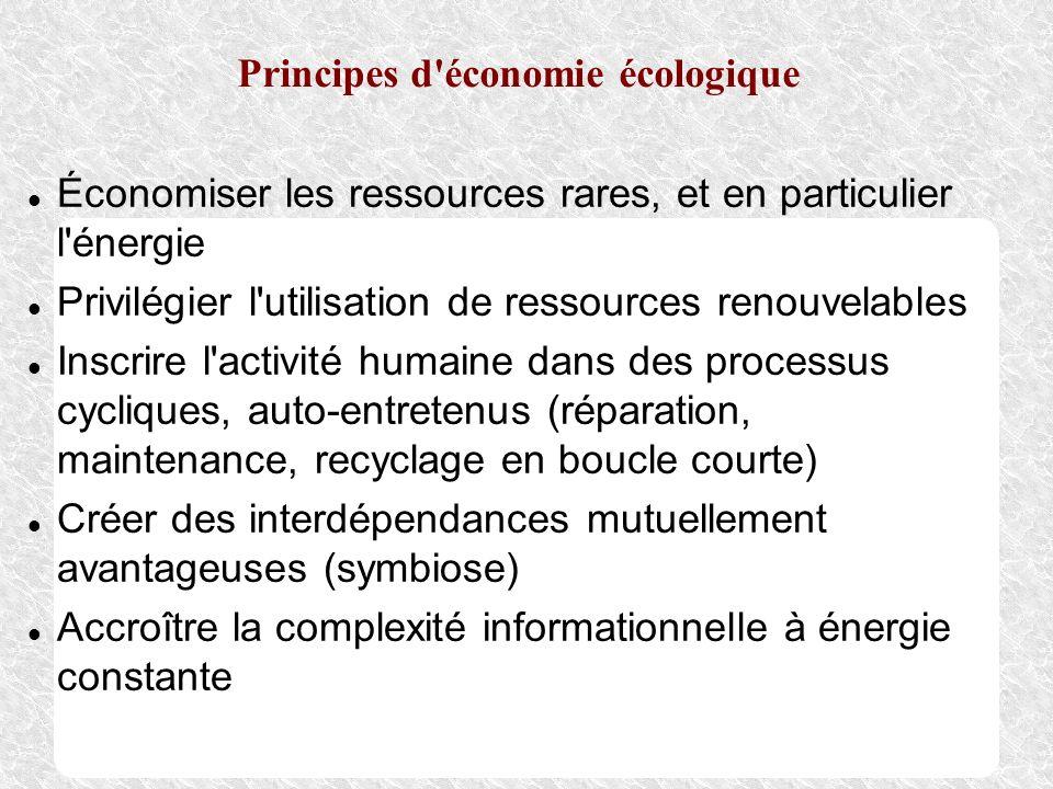Principes d économie écologique
