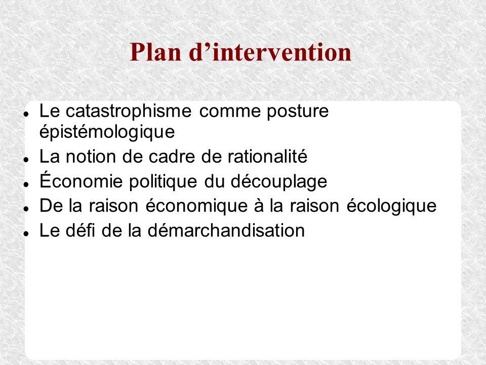 Plan d'intervention Le catastrophisme comme posture épistémologique