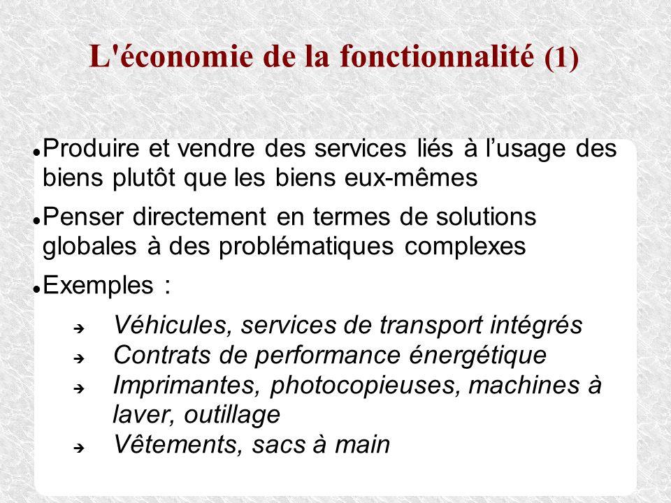 L économie de la fonctionnalité (1)