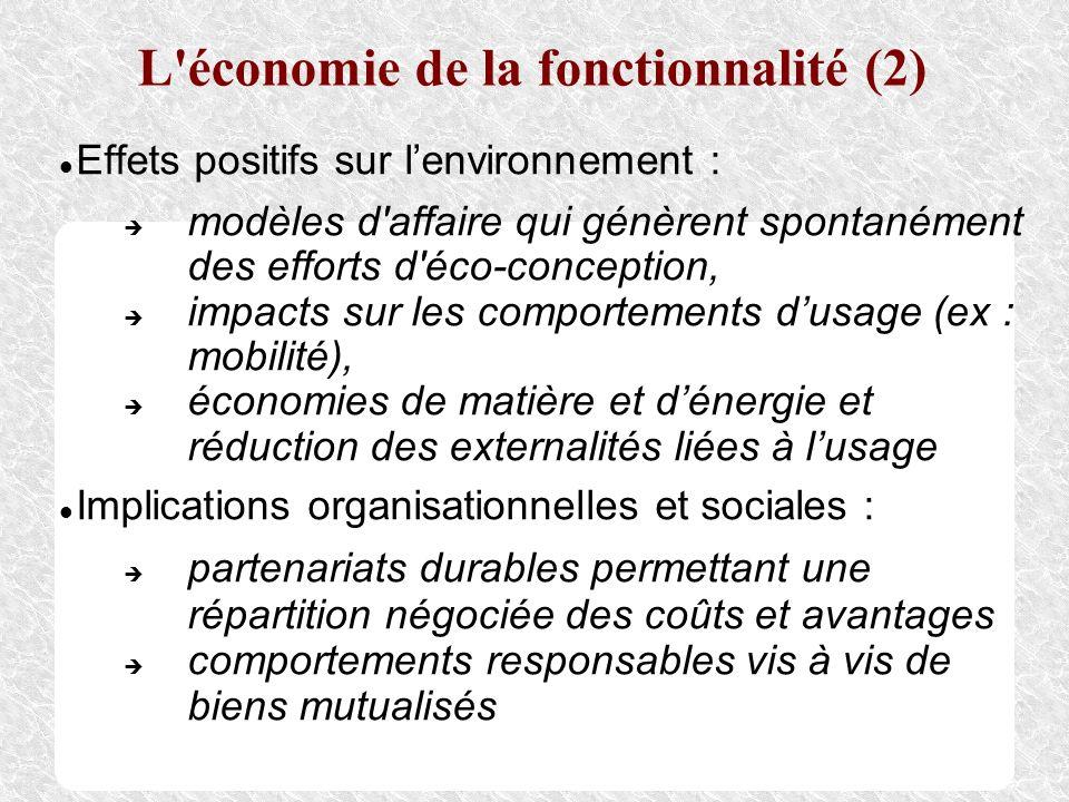 L économie de la fonctionnalité (2)