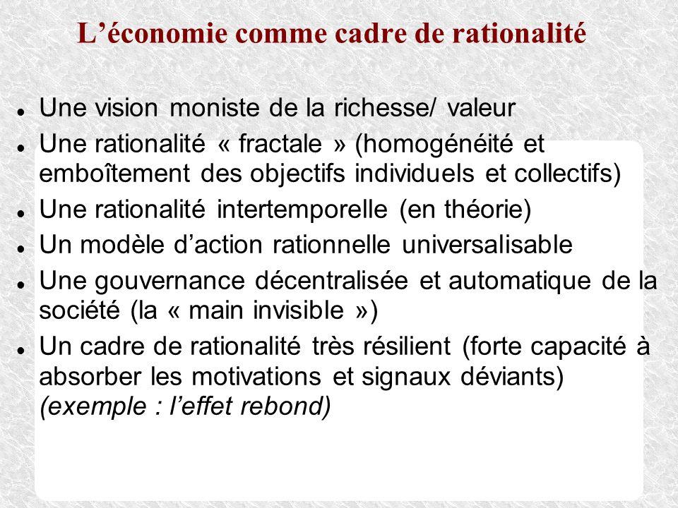 L'économie comme cadre de rationalité