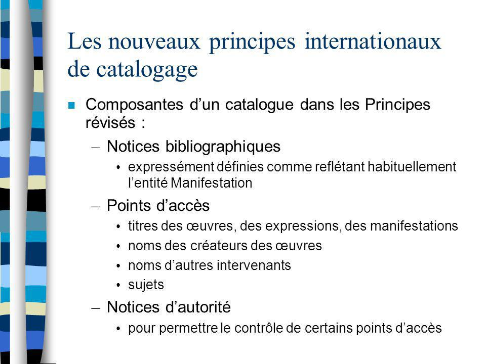 Les nouveaux principes internationaux de catalogage