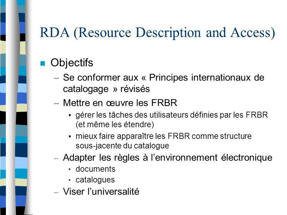 RDA (Resource Description and Access)