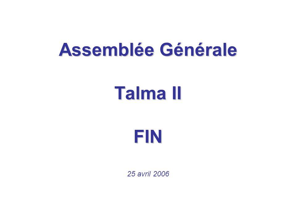Assemblée Générale Talma II FIN
