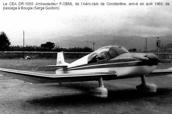 Le CEA DR-1050 Ambassadeur F-OBML de l'Aéro-club de Constantine, arrivé en avril 1960, de passage à Bougie (Serge Guidoni)