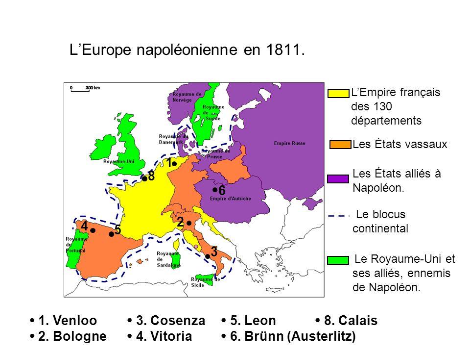 L'Europe napoléonienne en 1811.