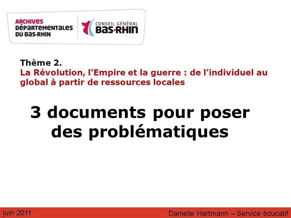 3 documents pour poser des problématiques