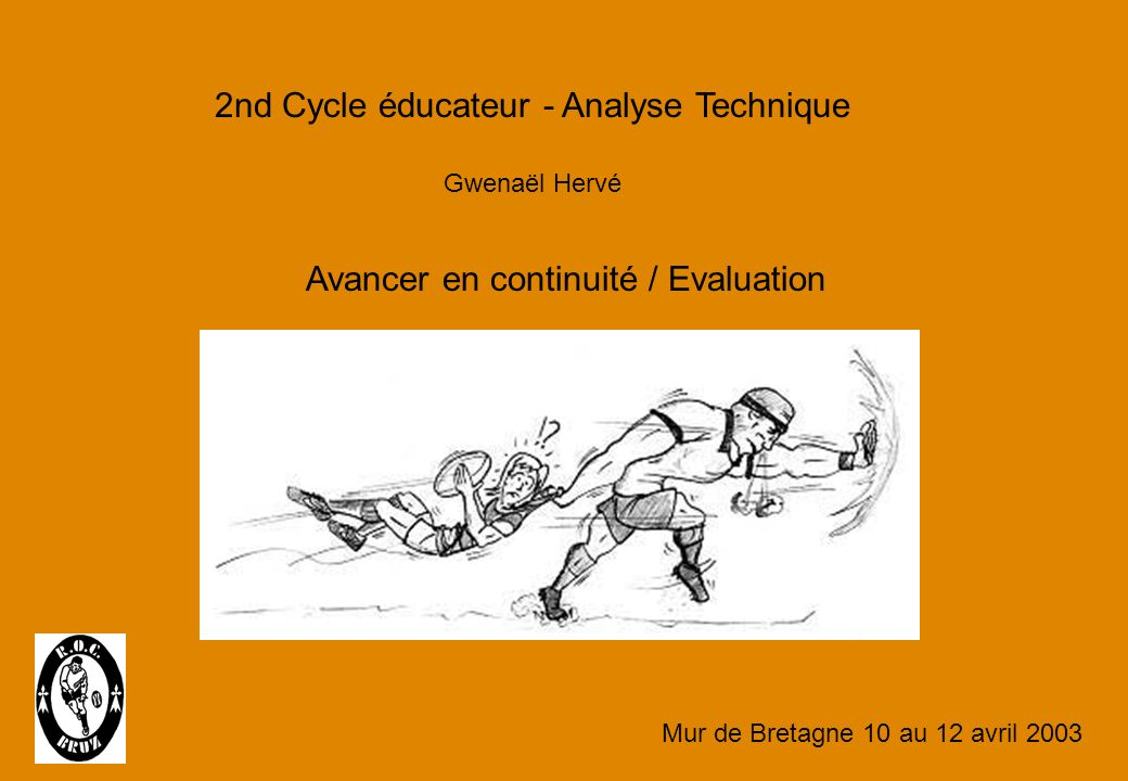 2nd Cycle éducateur - Analyse Technique