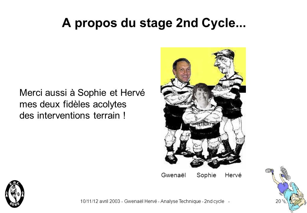 A propos du stage 2nd Cycle...