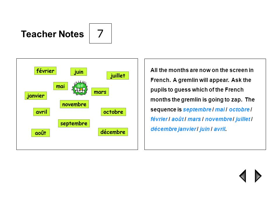 7 Teacher Notes.