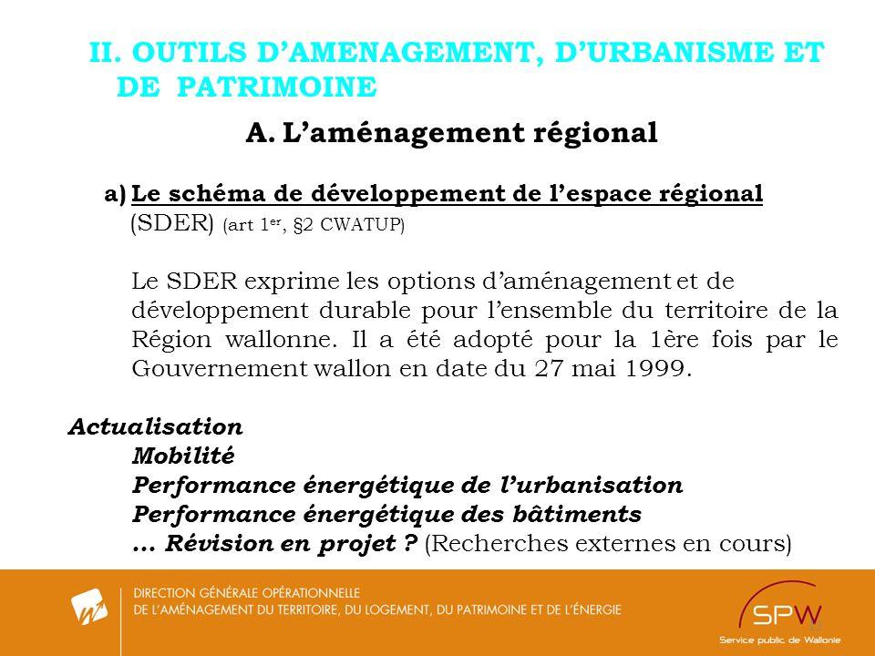 A. L'aménagement régional
