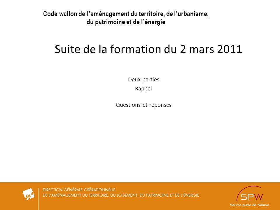 Suite de la formation du 2 mars 2011