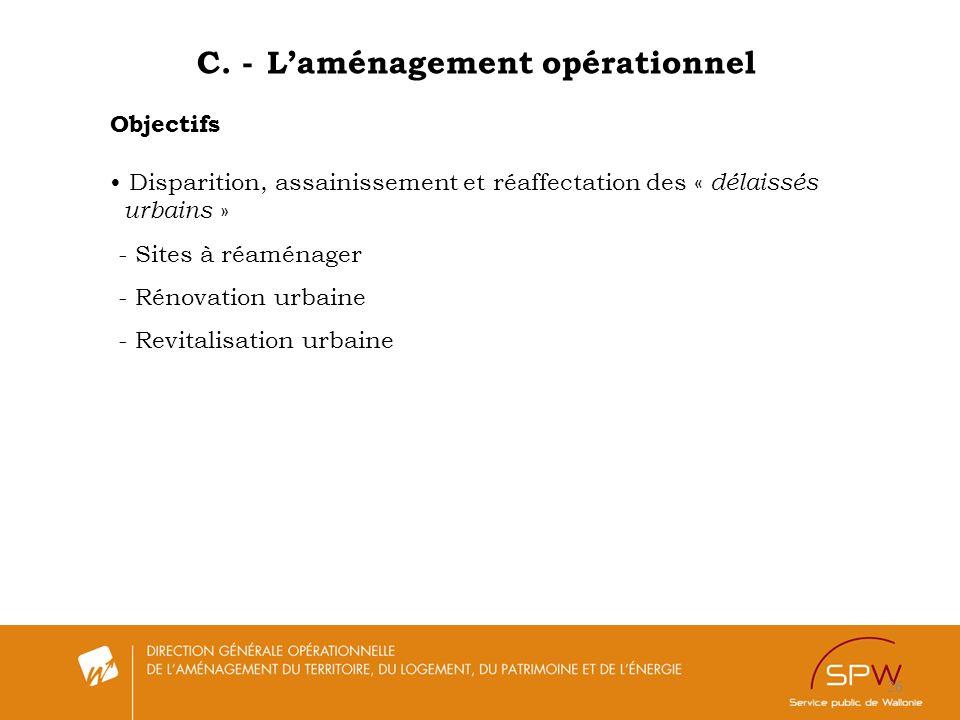 C. - L'aménagement opérationnel