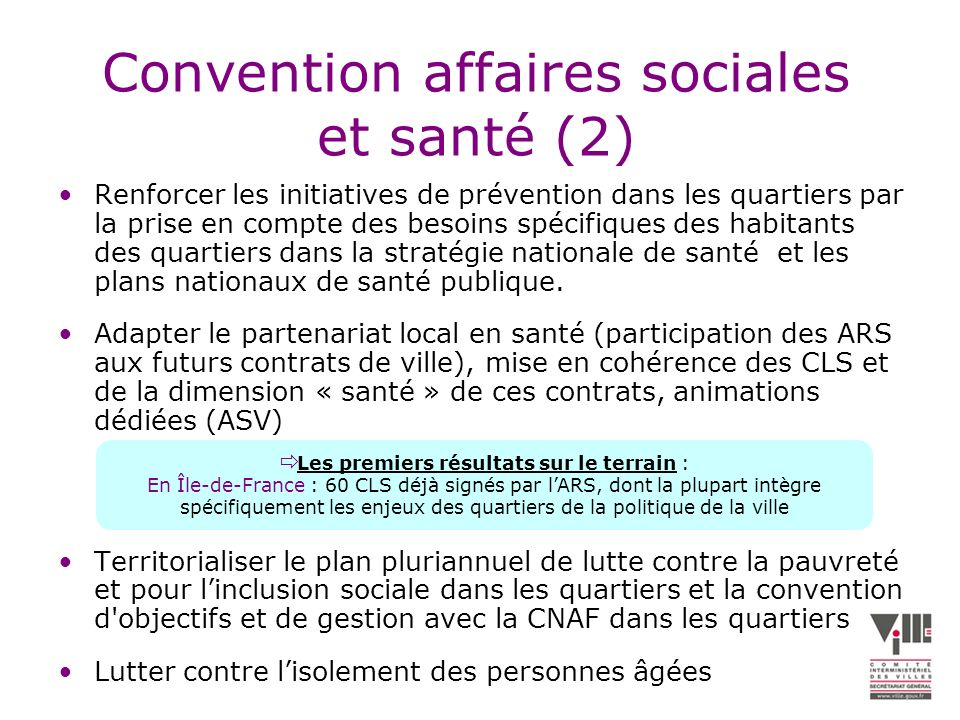 Convention affaires sociales et santé (2)