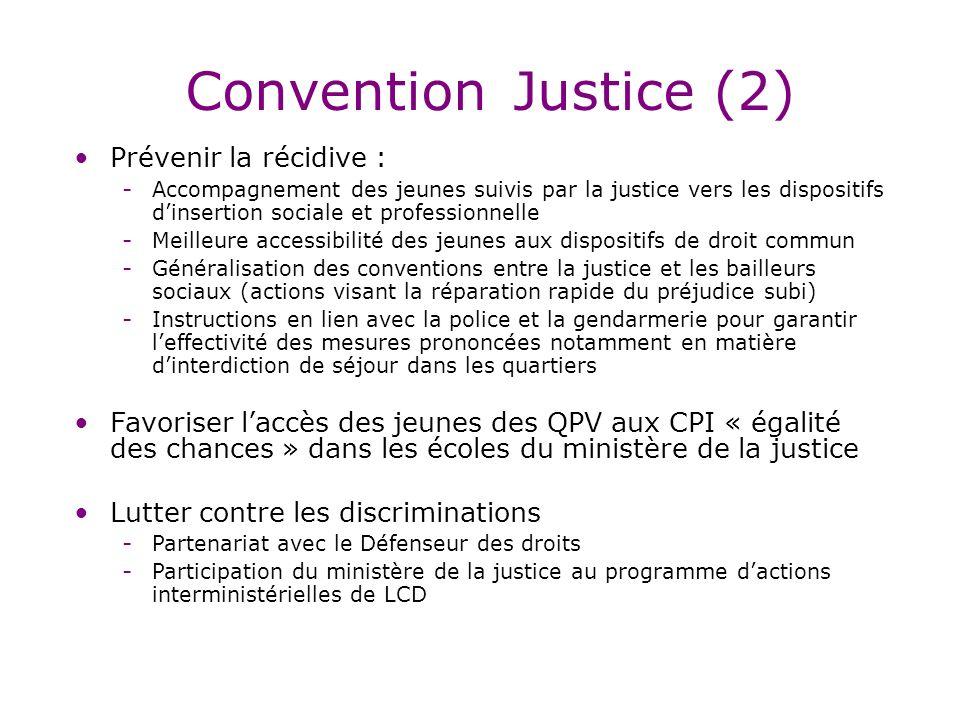 Convention Justice (2) Prévenir la récidive :