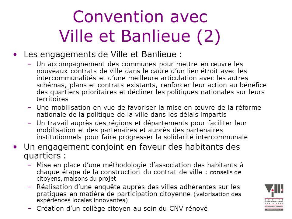 Convention avec Ville et Banlieue (2)