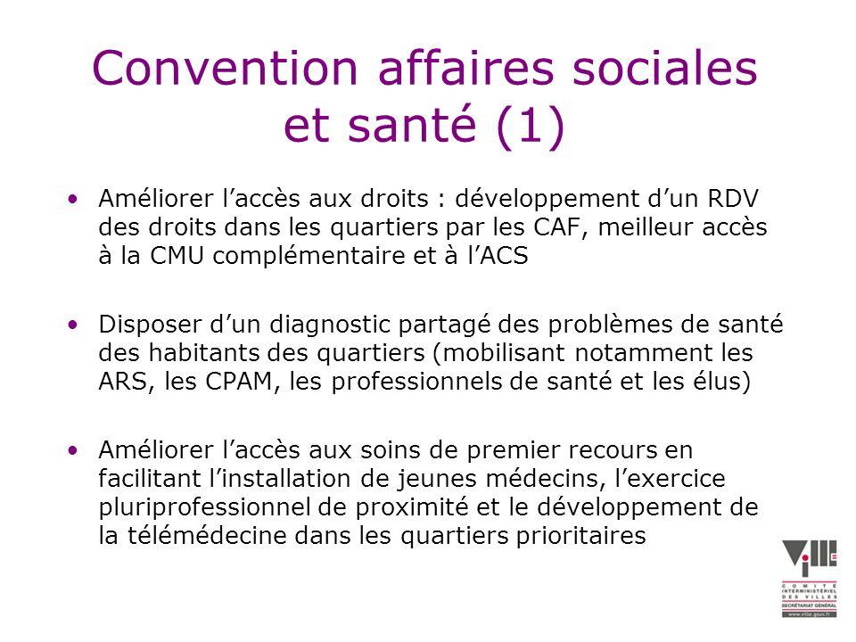 Convention affaires sociales et santé (1)
