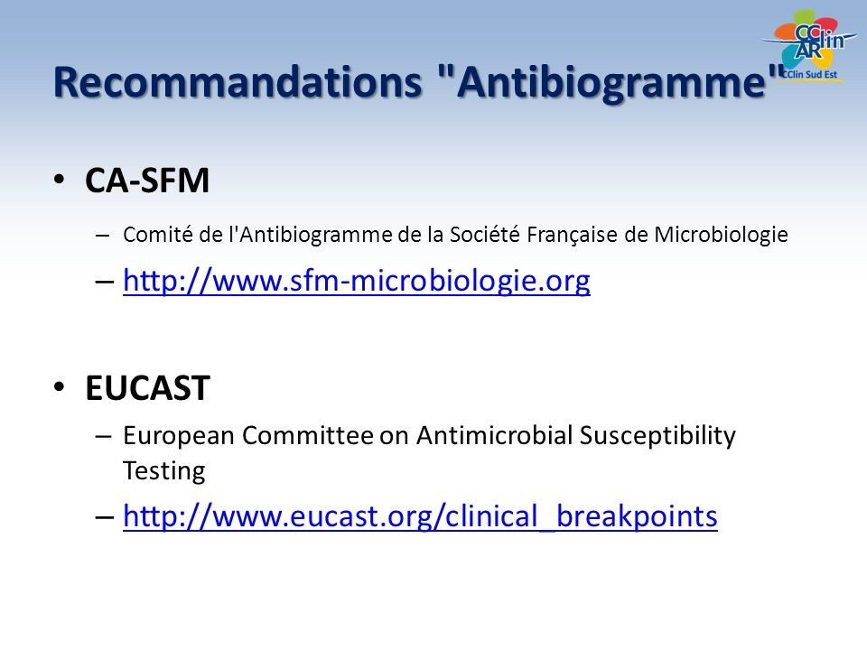 Recommandations Antibiogramme