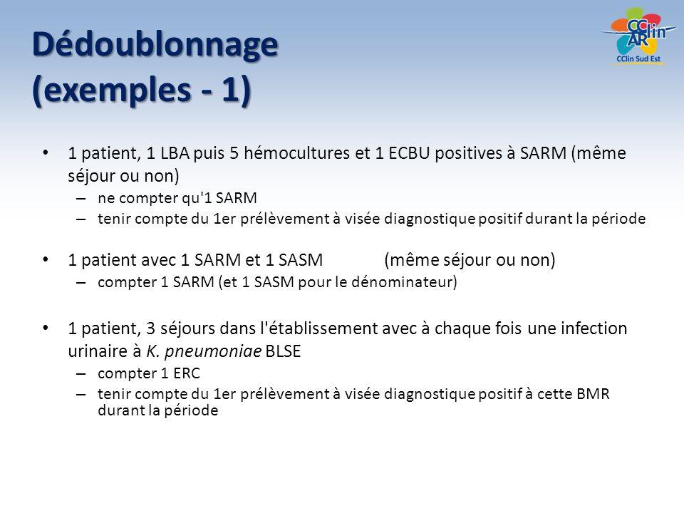 Dédoublonnage (exemples - 1)