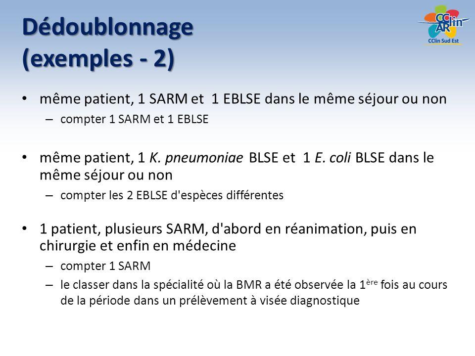 Dédoublonnage (exemples - 2)