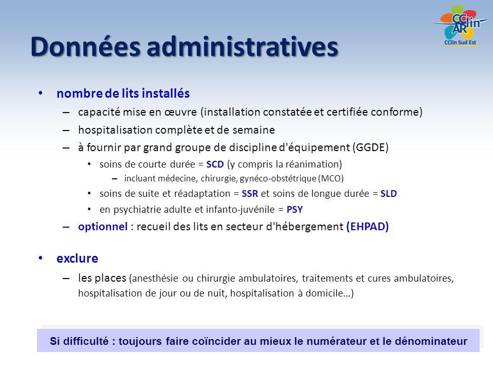 Données administratives