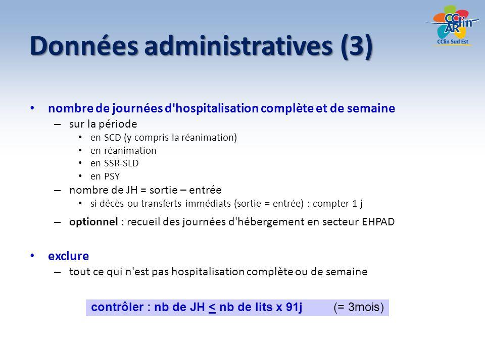 Données administratives (3)