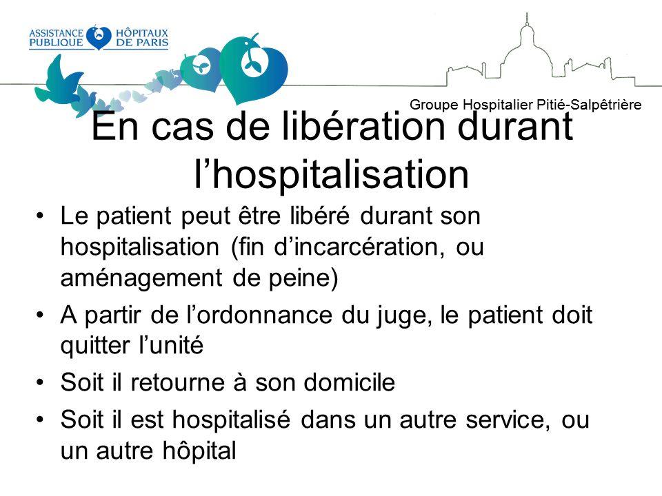 En cas de libération durant l'hospitalisation