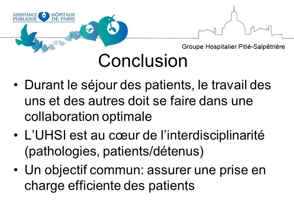Conclusion Durant le séjour des patients, le travail des uns et des autres doit se faire dans une collaboration optimale.